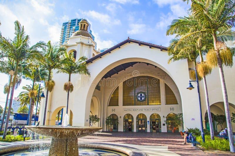 Estación histórica de la unión en San Diego imagen de archivo libre de regalías