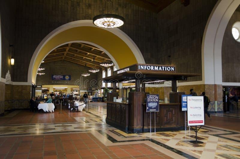 Estación Los Ángeles de la unión de la información imagen de archivo