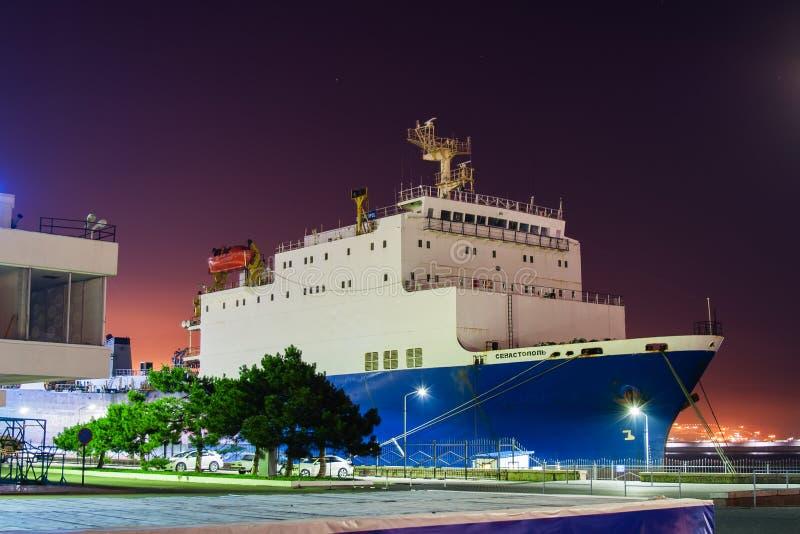 Estación marina en Novorossiysk Rusia imagenes de archivo