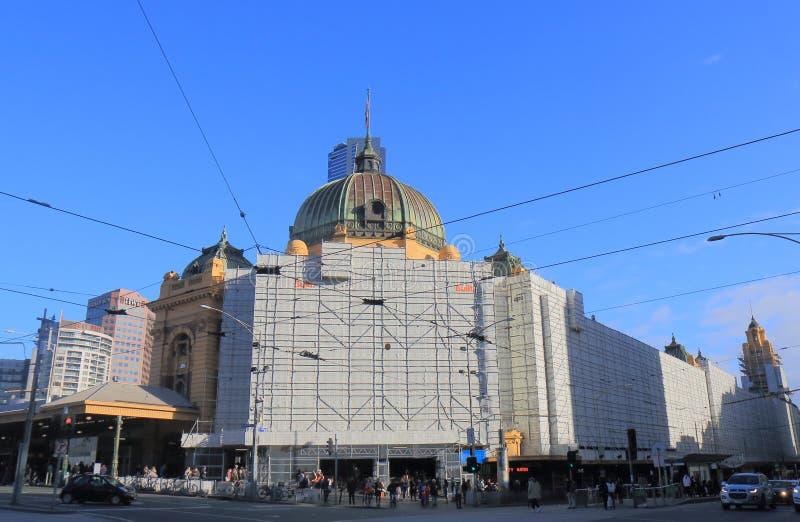 Estación Melbourne Australia de la calle del Flinders fotos de archivo