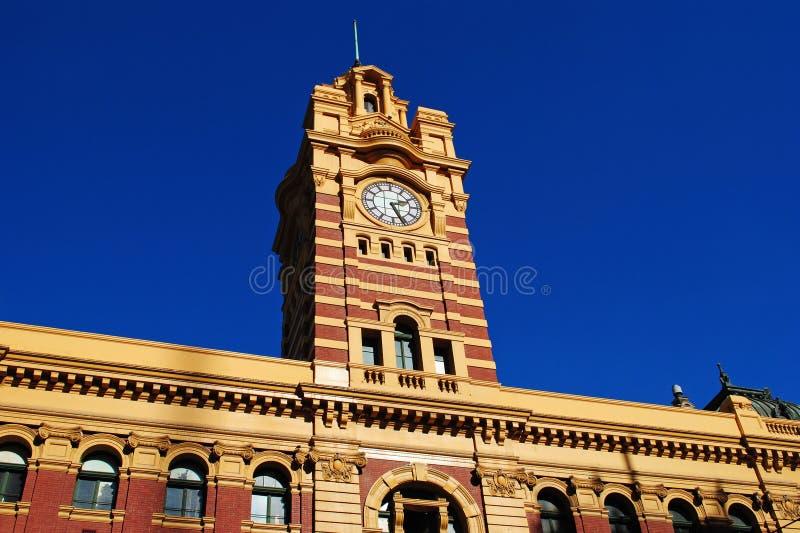 Estación Melbourne de la calle del Flinders fotos de archivo