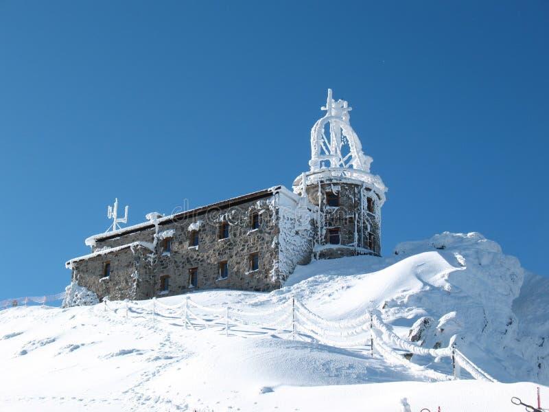 Estación meteorológica congelada imagen de archivo