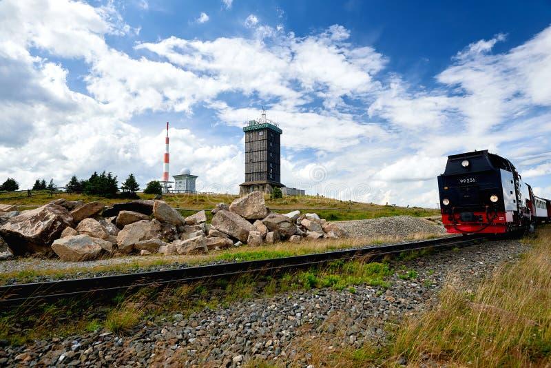 estación meteorológica en la montaña Brocken imagen de archivo libre de regalías
