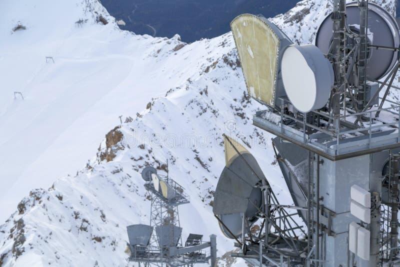 Estación meteorológica en las montañas, Alemania fotografía de archivo libre de regalías