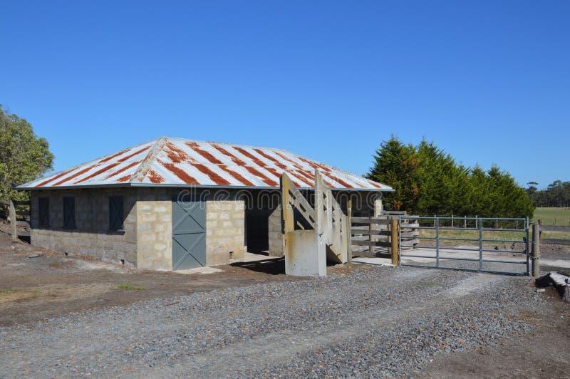 Estación que reúne del ganado fotografía de archivo