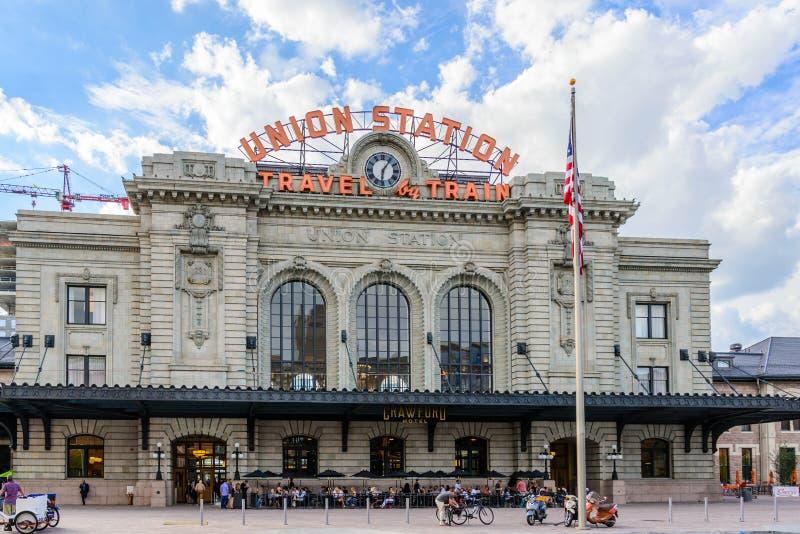 Estación renovada de la unión en Denver Colorado fotos de archivo libres de regalías