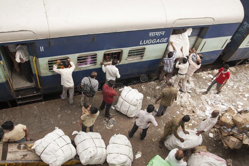 Estación rialway de Nueva Deli imagenes de archivo