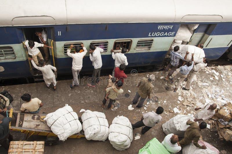 Estación rialway de Nueva Deli foto de archivo