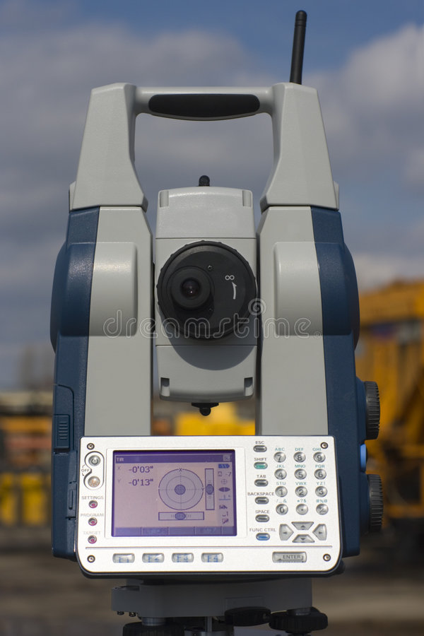 Estación robótica nivelada foto de archivo libre de regalías