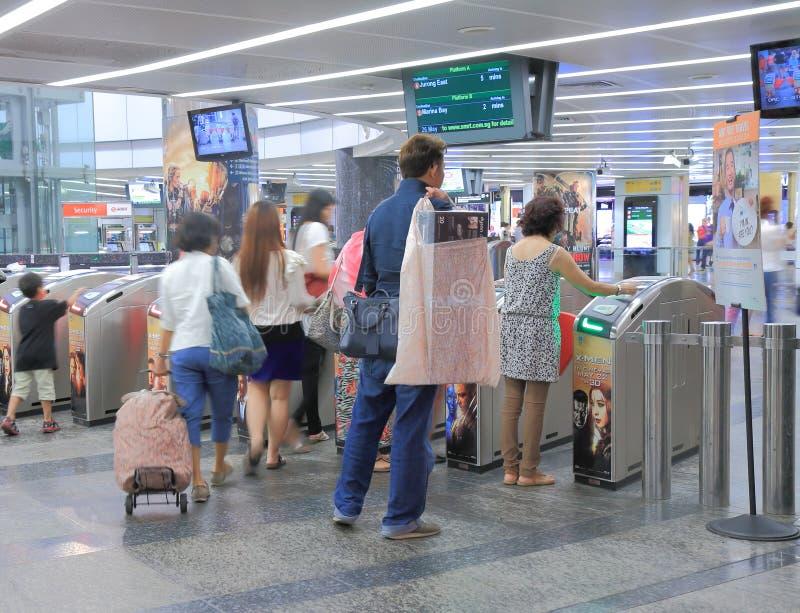 Estación Singapur del MRT del camino de la huerta fotos de archivo libres de regalías
