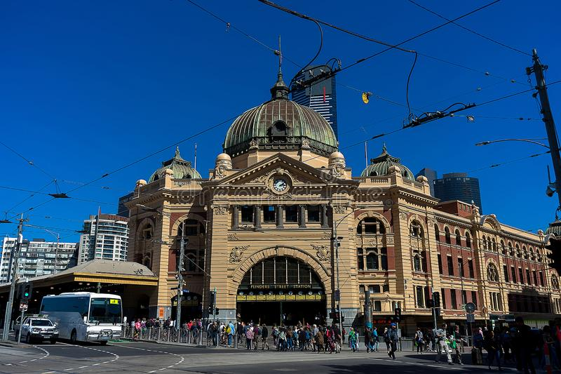 Estaci?n Melbourne de la calle del Flinders fotografía de archivo libre de regalías