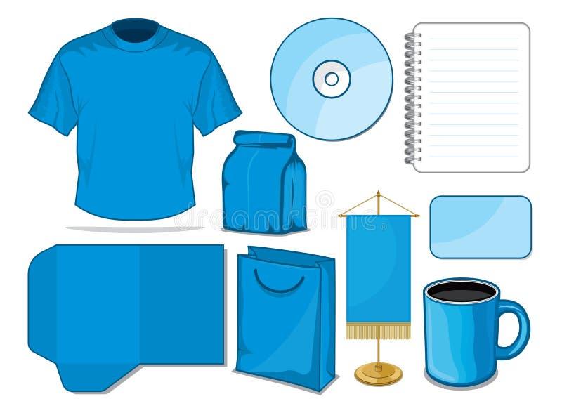 Estacionário azul ilustração do vetor