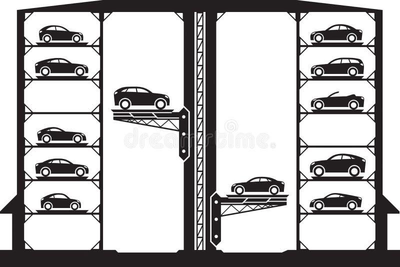 Estacionamento automático do carro ilustração royalty free