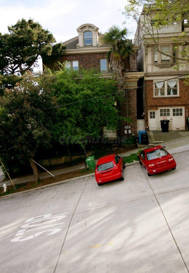 Estacionamento da rua imagens de stock