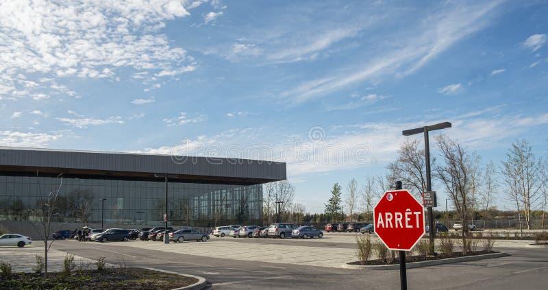 Estacionamento do estádio de futebol de Montreal fotos de stock royalty free