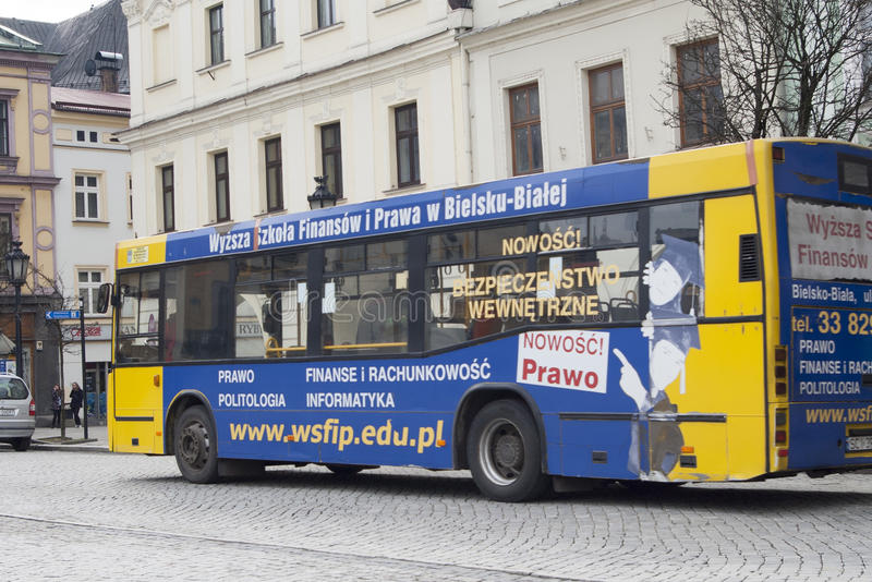 Estacionamento do ônibus foto de stock royalty free