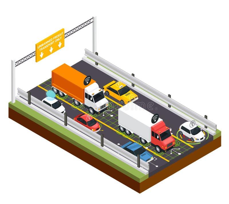 Estacionamento para transporte 2não pilotado ilustração stock