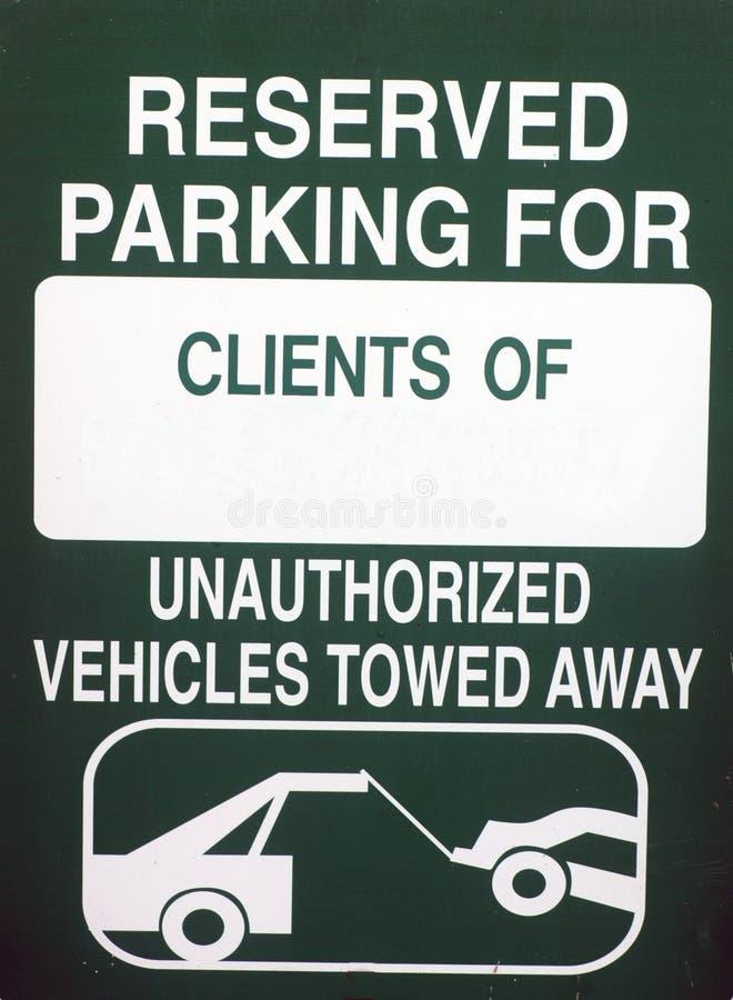 Estacionamento Reserved fotografia de stock
