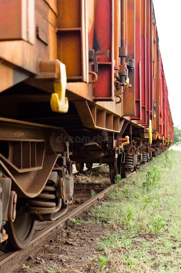 Estacionamento velho dos trens imagens de stock