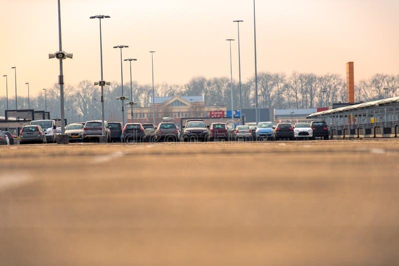 Estacionamiento al aire libre imágenes de archivo libres de regalías