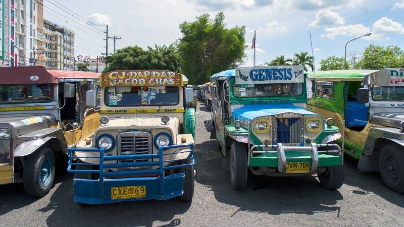 Estacionamiento de Jeepneys foto de archivo libre de regalías