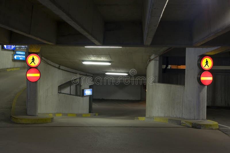 Estacionamiento de Undeground imagenes de archivo