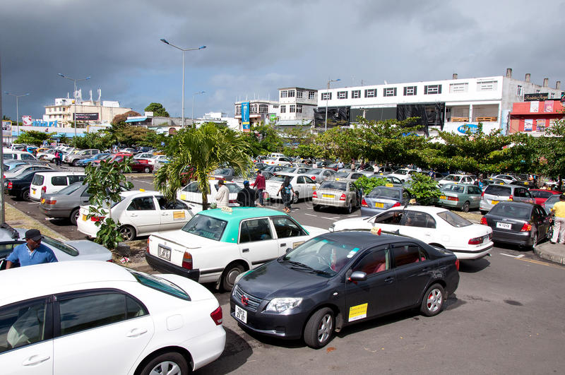 Estacionamiento Flacq, Mauricio fotos de archivo libres de regalías
