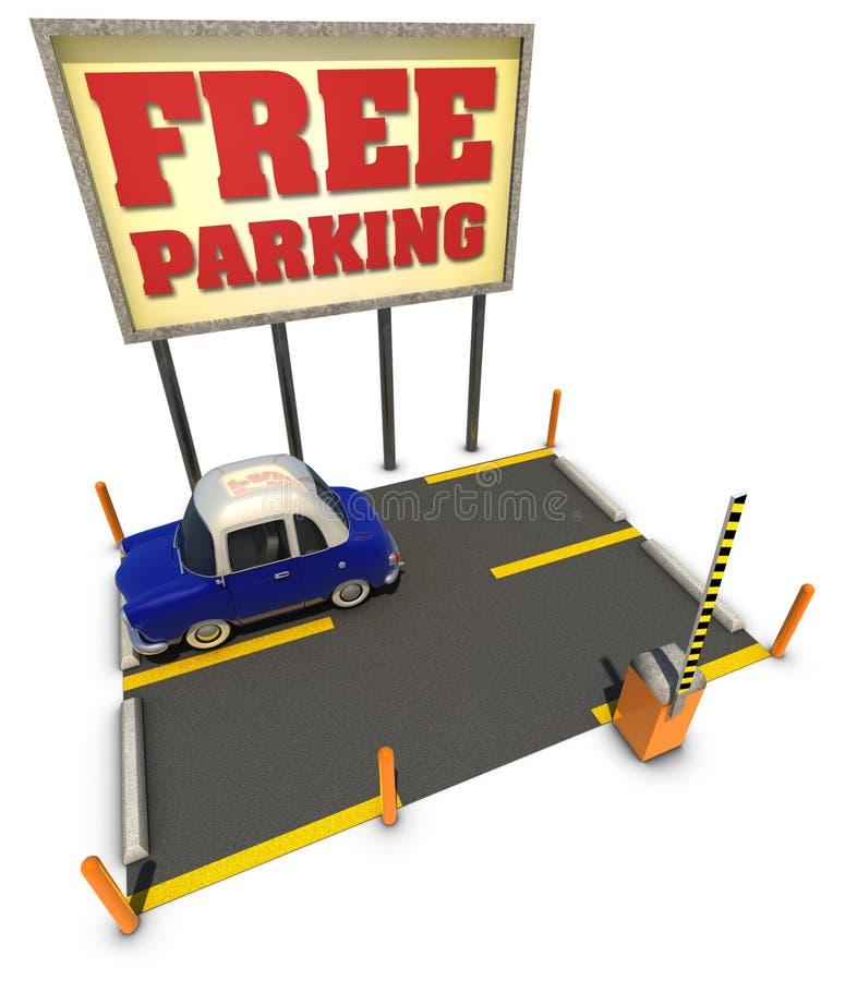 Estacionamiento libre ilustración del vector