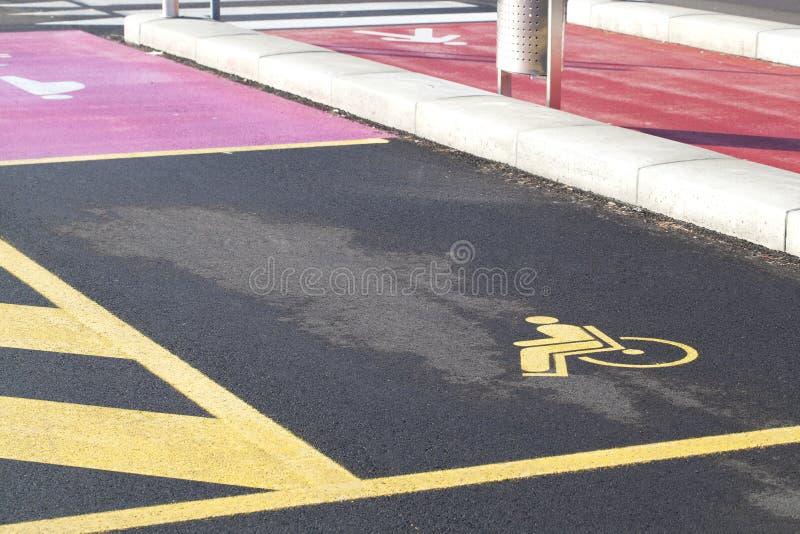 Estacionamiento perjudicado foto de archivo libre de regalías