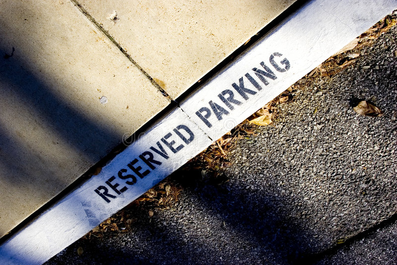 Estacionamiento reservado imagen de archivo