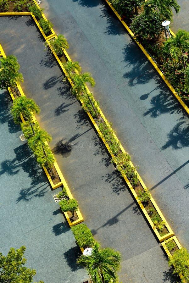 Estacionamiento vacío visto fotos de archivo libres de regalías