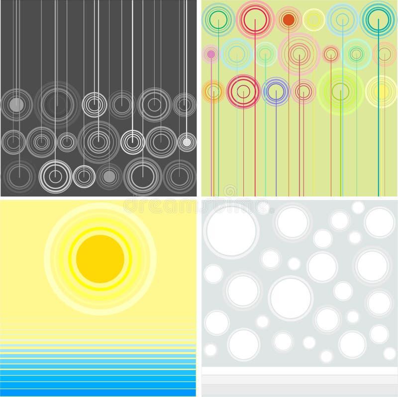 Estaciones abstractas ilustración del vector
