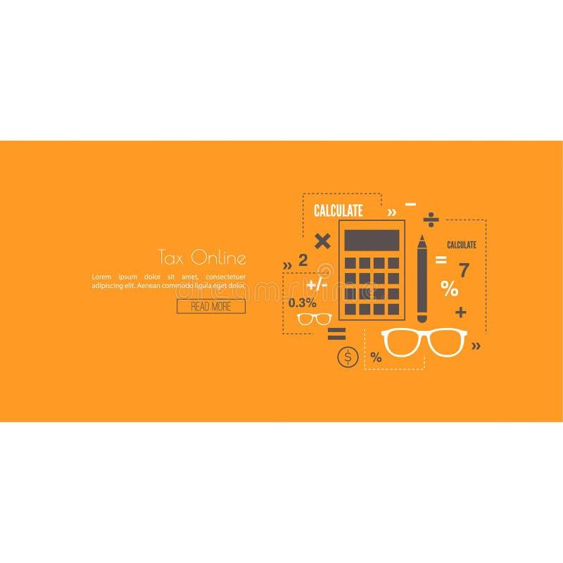 Estadísticas e impuestos stock de ilustración
