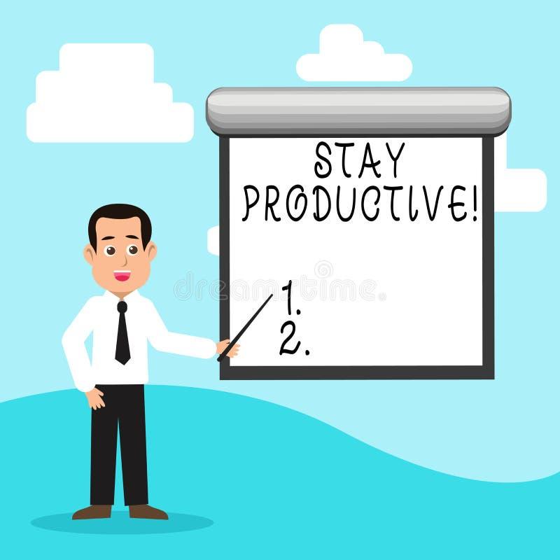 Estada do texto da escrita produtiva Conceito que significa a produtividade da concentração da eficiência ilustração do vetor