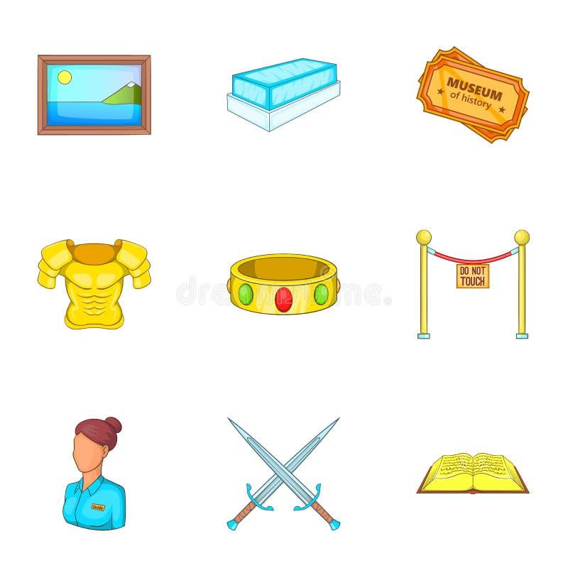 Download A Estada Em ícones Do Museu Ajustou-se, Estilo Dos Desenhos Animados Ilustração do Vetor - Ilustração de galeria, isolado: 80101539