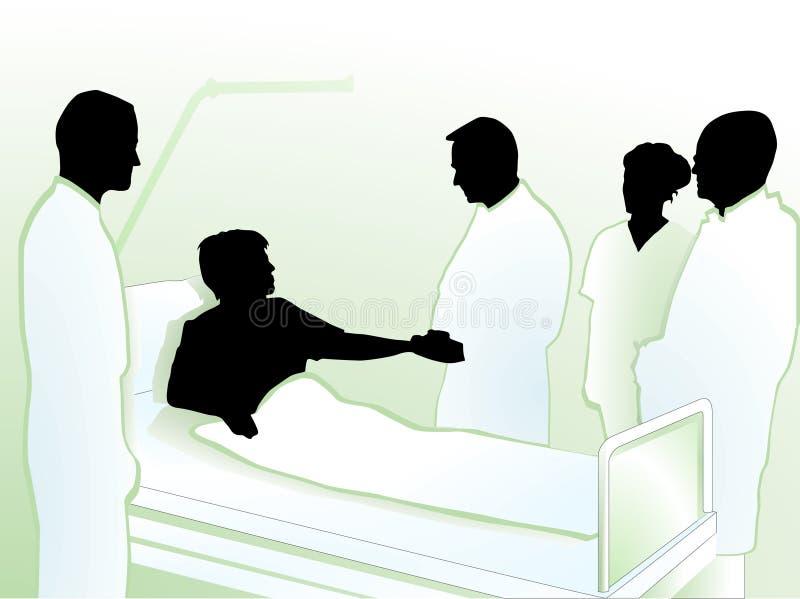 Estada no hospital ilustração do vetor