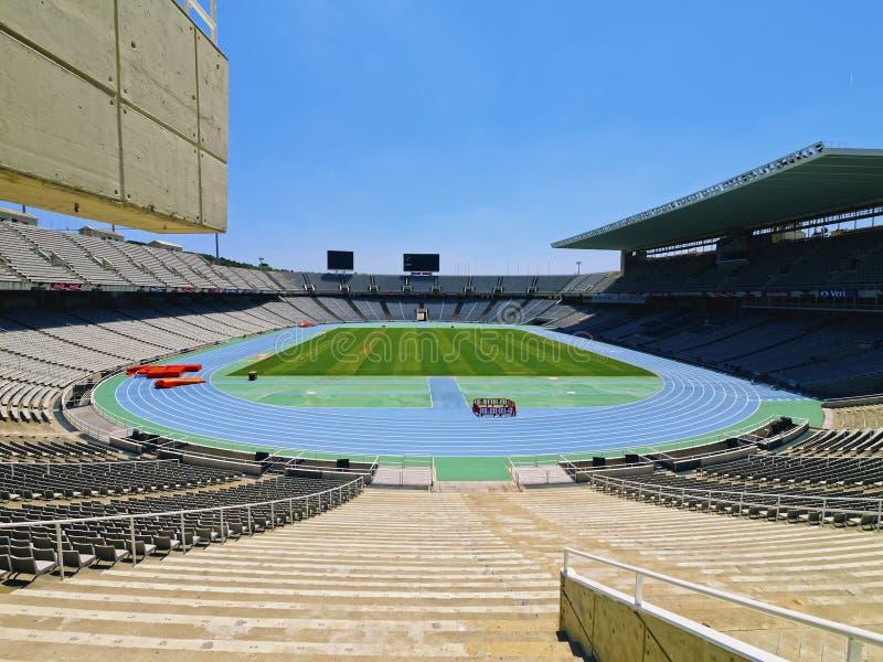 Estadi Olimpic à Barcelone photo stock