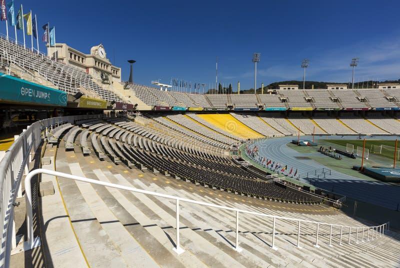 Estadi Olimpic Lluis Companys à Barcelone, Espagne photos stock