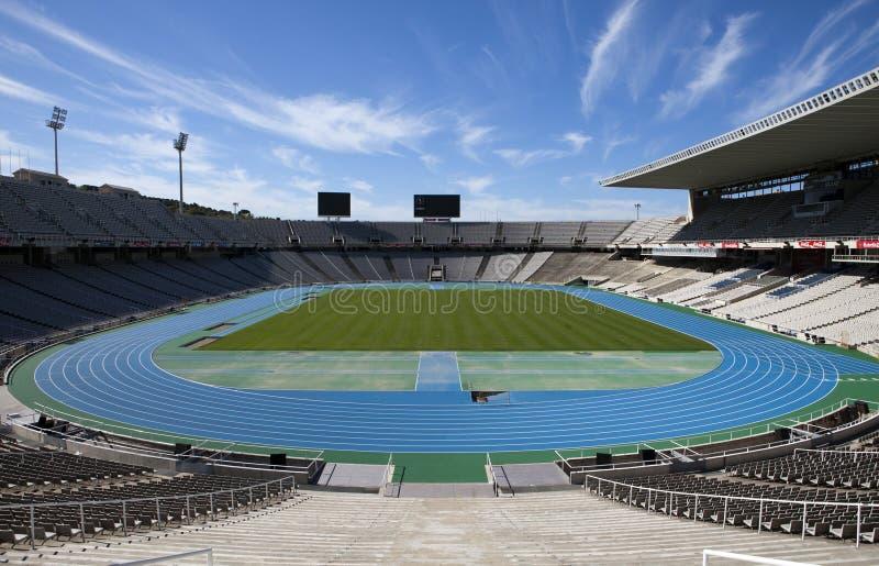 Estadi Olimpic Lluis Companys (Barcelona Olympic Stadium) on May 10, 2010 in Barcelona, Spain. BARCELONA, SPAIN - MAY 10: Estadi Olimpic Lluis Companys ( royalty free stock image