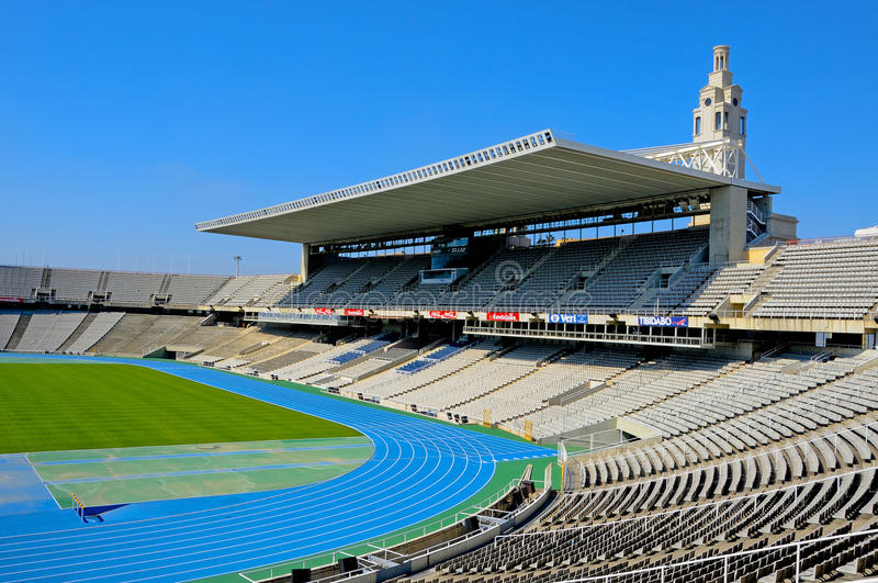 Estadi Olimpic Lluis Companys in Barcelona, Spain royalty free stock photography