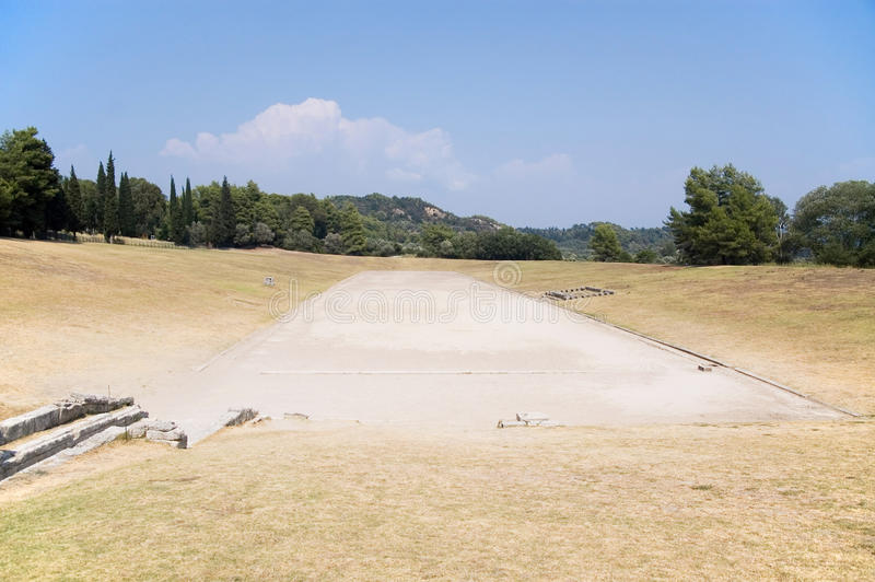Estadio antiguo en la Olympia para los Juegos Olímpicos fotos de archivo