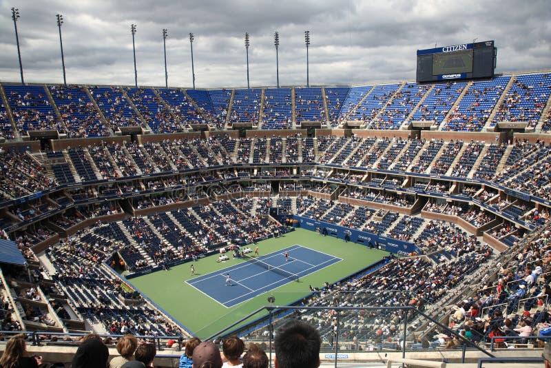 Estadio de Ashe - los E.E.U.U. abren tenis foto de archivo libre de regalías