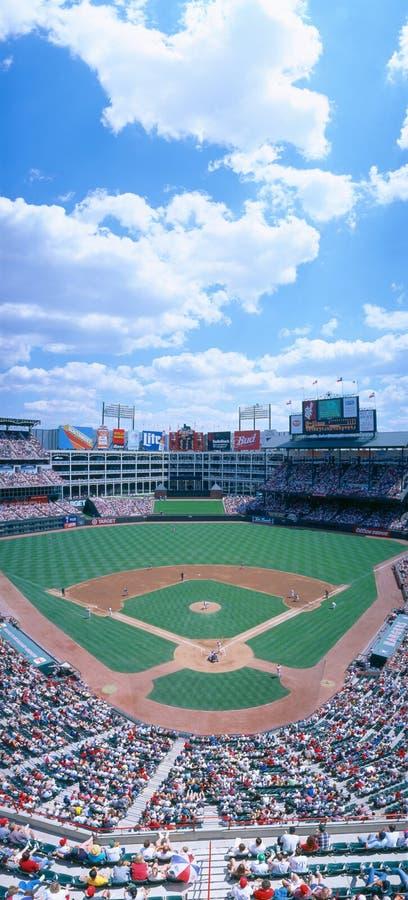 Estadio de béisbol, Orioles de Baltimore de las Texas Rangers v Baltimore Orioles, Dallas, Tejas fotos de archivo libres de regalías