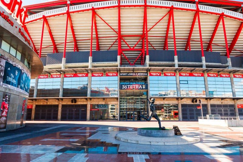 Estadio de Benfica en Lisboa, Portugal fotografía de archivo libre de regalías