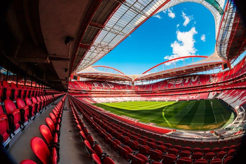 Estadio de Benfica en Lisboa, Portugal foto de archivo