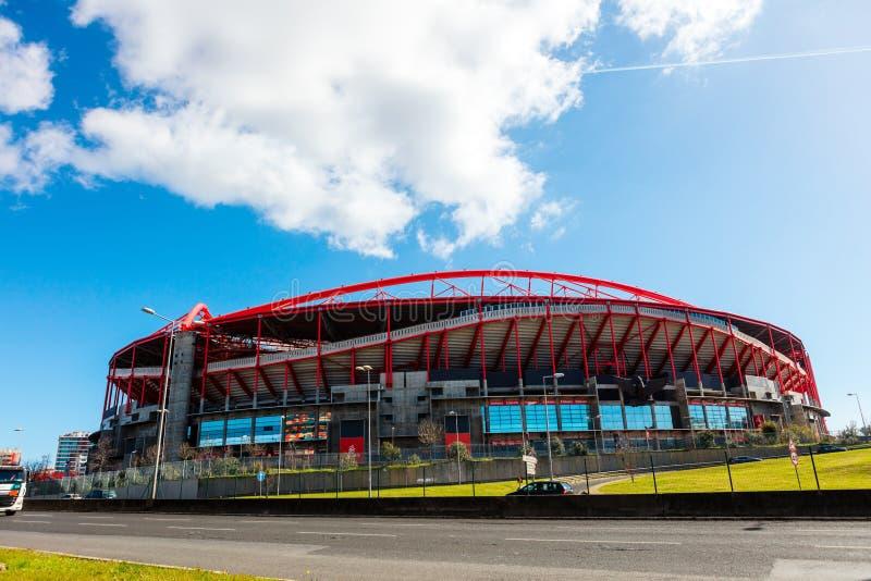 Estadio de Benfica en Lisboa, Portugal fotografía de archivo