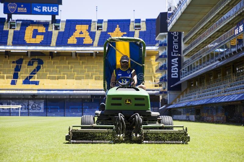 Estadio de Bombonera del La de Boca Juniors en la Argentina fotografía de archivo
