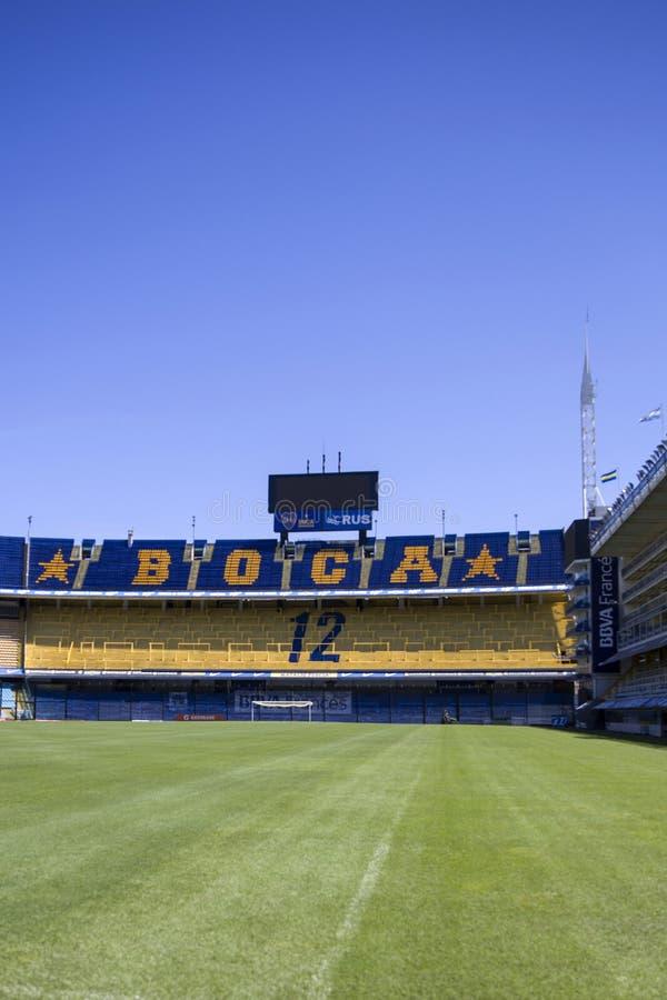 Estadio de Bombonera del La de Boca Juniors en la Argentina imagenes de archivo