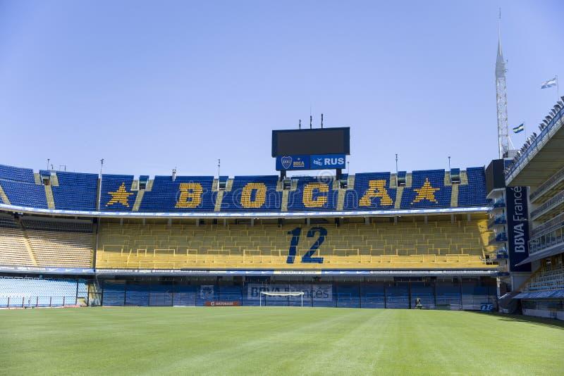 Estadio de Bombonera del La de Boca Juniors en la Argentina imagen de archivo libre de regalías