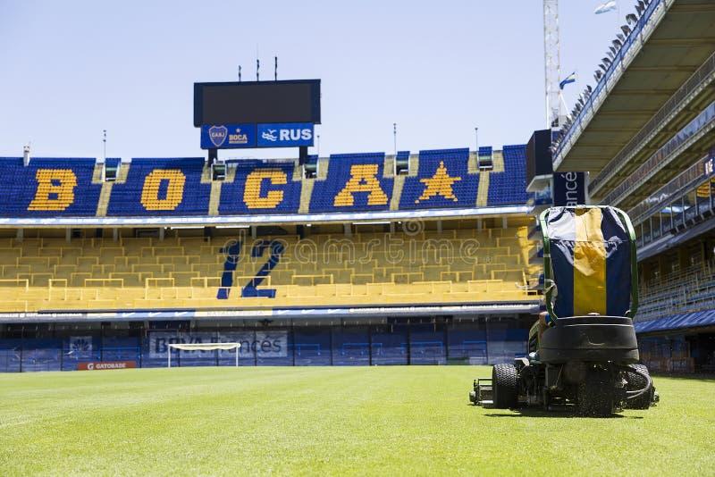 Estadio de Bombonera del La de Boca Juniors en la Argentina foto de archivo